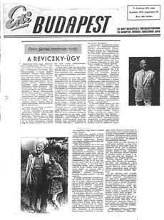 A Reviczky-ügy - újságcikk 1956.