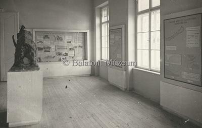 Az 1949-es új kiállítás a Balatoni Múzeumban - Őslénytani és geológiai részlet