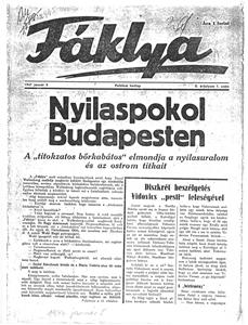 Nyilaspokol Budapesten - újságcikk 1947.01.05