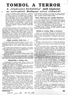 Tombol a terror - újságcikk 1947.01.19.