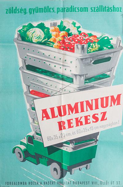 Alumínium rekesz reklám
