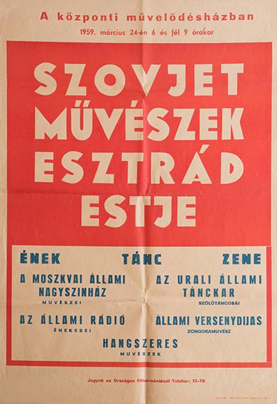 Szovjet művészek esztrád estje