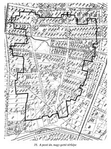 A pesti nagy gettó térképe - könyvrészlet