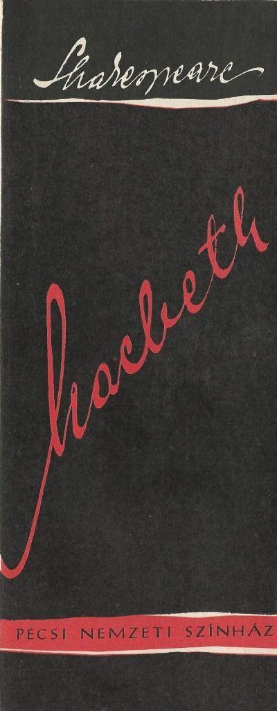 Macbeth bemutató műsorfüzet