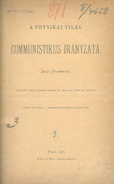 A physikai világ communistikus irányzata