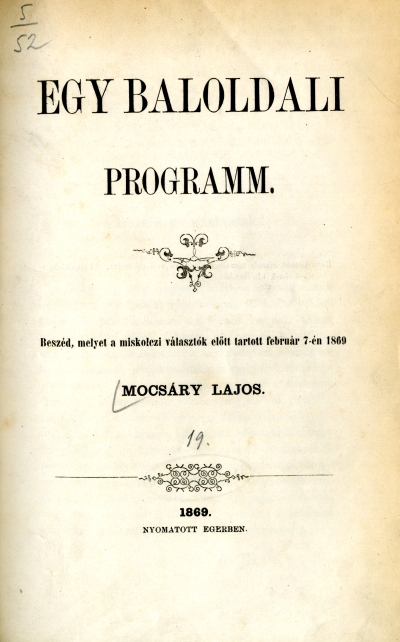 Egy baloldali programm