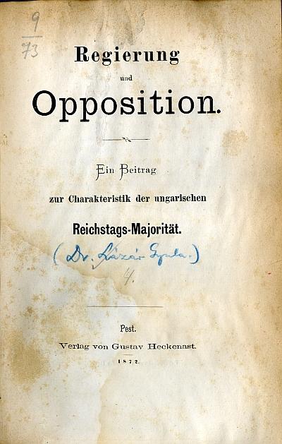 Regierung und Opposition