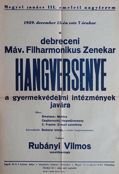 A debreceni Máv. filharmonikus zenekar hangversenye