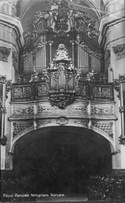 Képeslap, Pápai Bencés templom kórusa