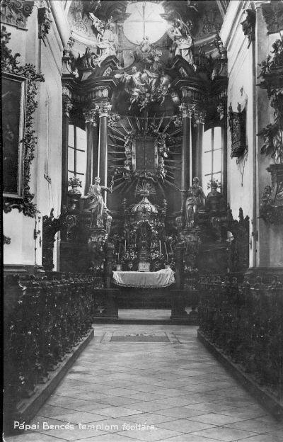 Képeslap, Pápai Bencés templom főoltára