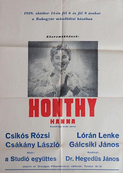 Előadás Honthy Hannával