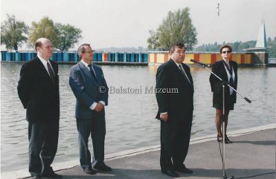 Balatoni évadnyitó a parton. Dr. Boross Imre miniszter beszéde