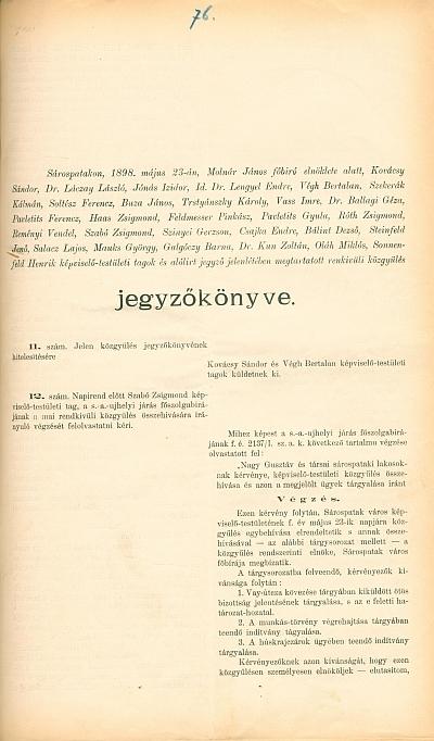 Vegyes kisnyomtatványok és litográfiák Zemplén megye területéről és máshonnan az 1856-1902. évekből