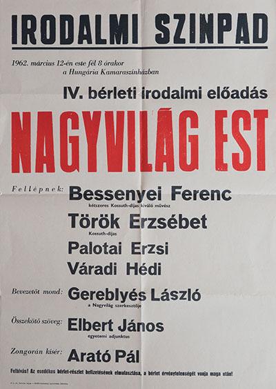 IV. bérleti irodalmi előadás