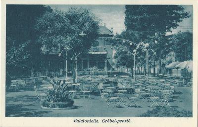 Grőbel Panzió - képeslap, Balatonlelle, 1930-as évek