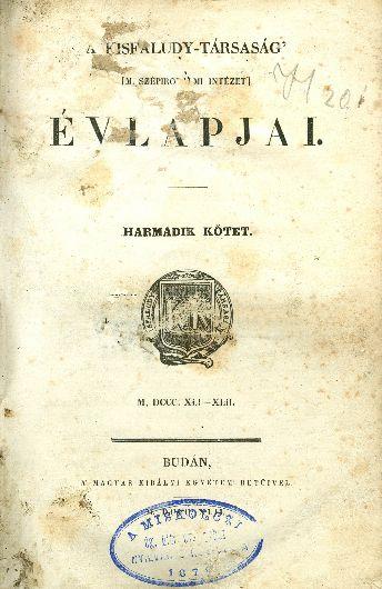 A Kisfaludy-Társaság évlapjai