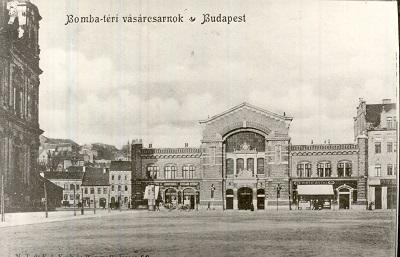 Vásárcsarnok a Batthyány téren, Budapest 1900.