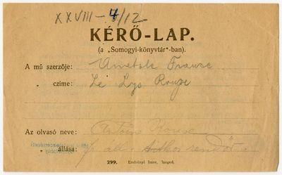 Móra Ferenc iratok