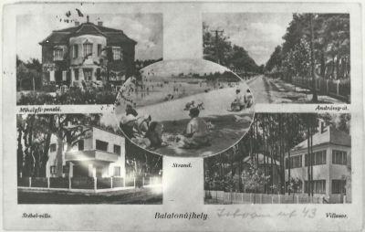 Mihályfi Panzió, Balatonújhely, 1939