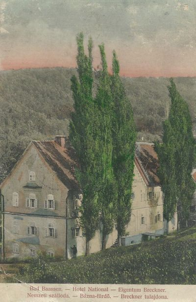 Nemzeti Szálloda, Báznafürdő, 1900