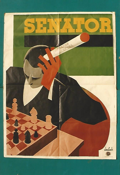 Reklámplakát Senator extra cigaretta, Budapest, 1920
