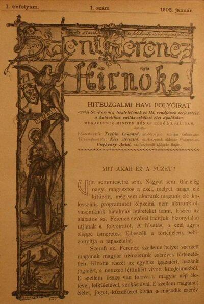 Szent Ferencz hírnöke