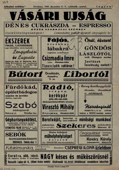 Orosházi vásári újság