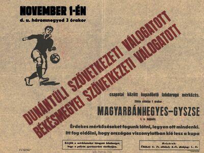 Futballmérkőzések 1950. november 1-én