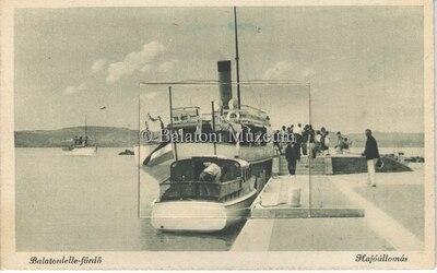 Balatonlelle-fürdő, Hajóállomás