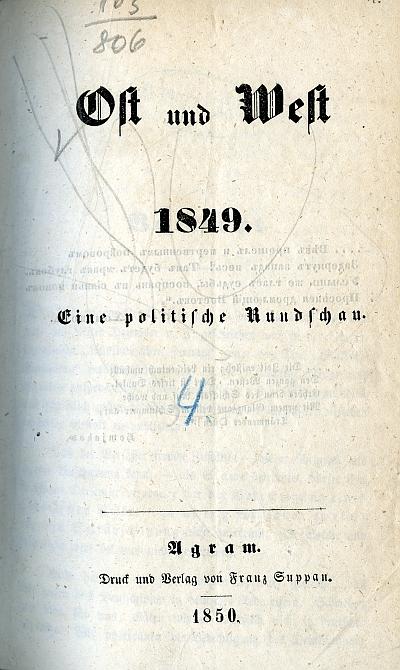 Ost und West 1849