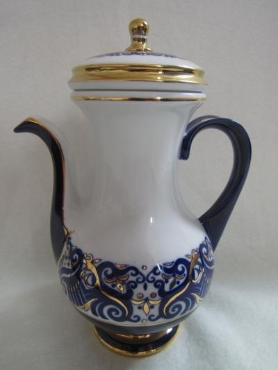 101. Mokka kanna fedővel porcelán