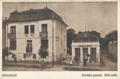 Kurtács Panzió, Bibi villa - képeslap, Hévíz, 1930-as évek