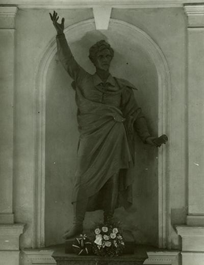 Petőfi-szobor a Kollégiumban