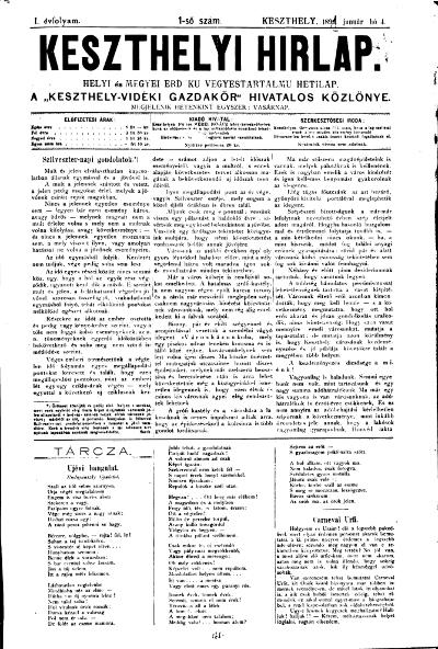 Keszthelyi Hirlap 1891.01.04.
