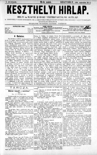 Keszthelyi Hirlap 1891.03.08.