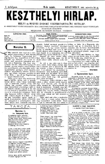 Keszthelyi Hirlap 1891.03.15.