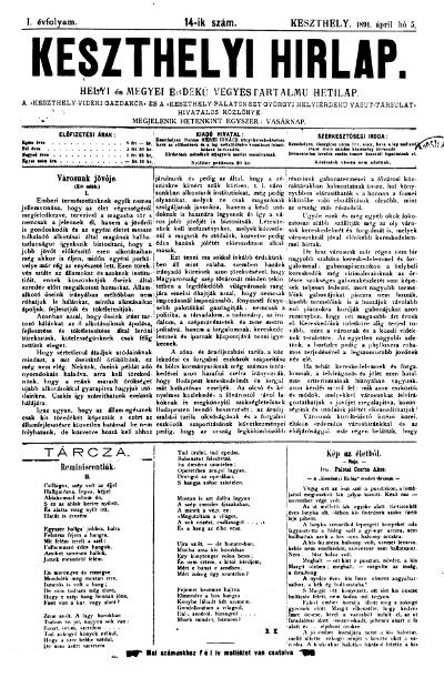 Keszthelyi Hirlap 1891.04.05.