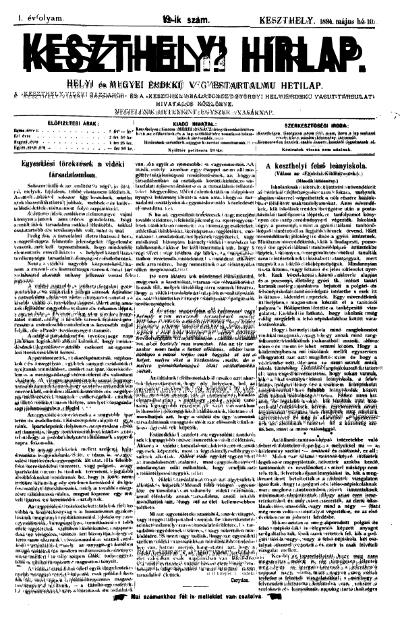 Keszthelyi Hirlap 1891.05.10.