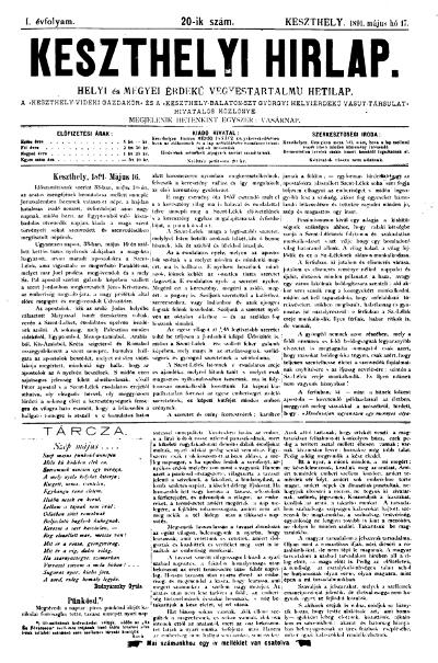 Keszthelyi Hirlap 1891.05.17.