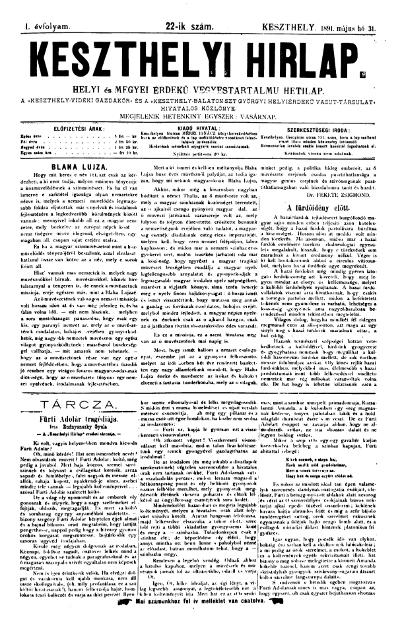 Keszthelyi Hirlap 1891.05.31.
