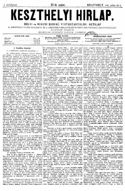 Keszthelyi Hirlap 1891.07.05.