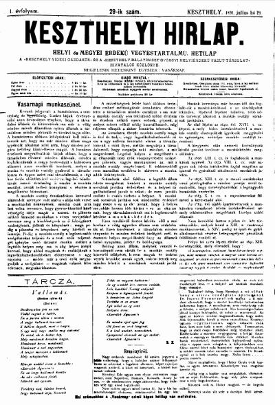 Keszthelyi Hirlap 1891.07.19.