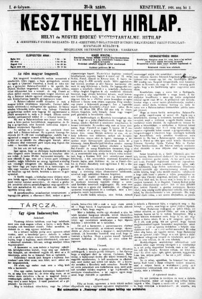 Keszthelyi Hirlap 1891.08.02.