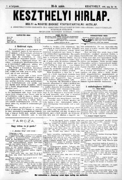 Keszthelyi Hirlap 1891.08.30.