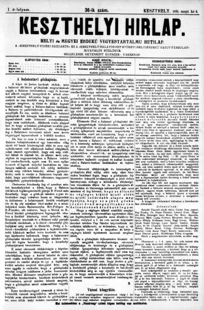 Keszthelyi Hirlap 1891.09.06.