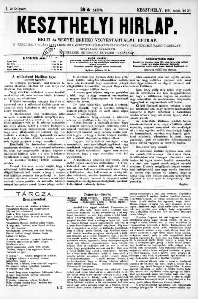 Keszthelyi Hirlap 1891.09.20.