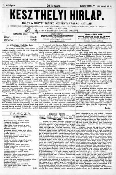 Keszthelyi Hirlap 1891.09.27.