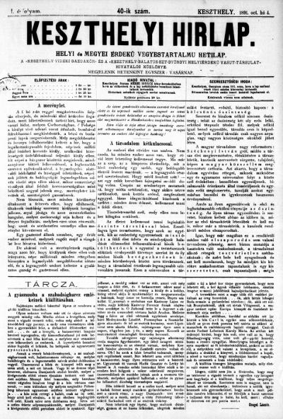Keszthelyi Hirlap 1891.10.04.