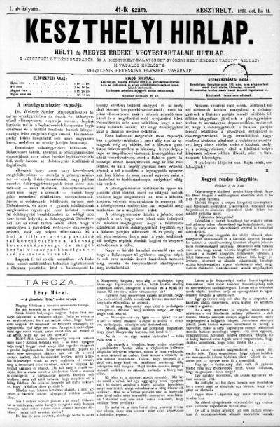 Keszthelyi Hirlap 1891.10.11.