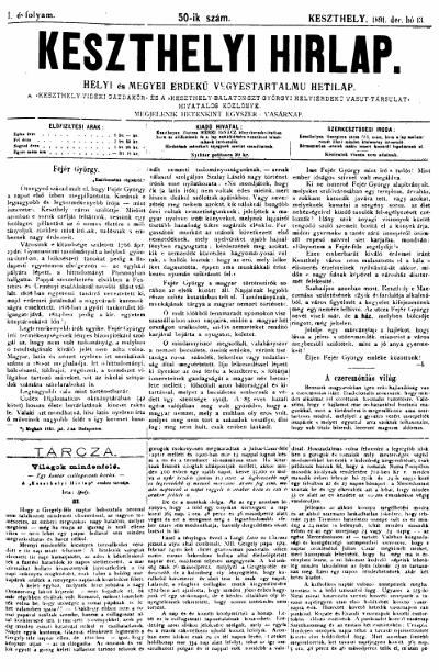 Keszthelyi Hirlap 1891.12.13.